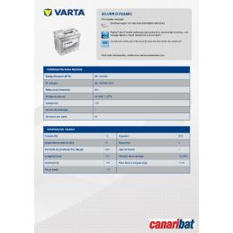 VARTA SILVER (D21) 12V 61AH 600A +D (242
