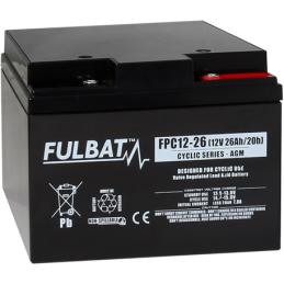 FULBAT FPC12-20 (T12)26Ah AGM CICLICA